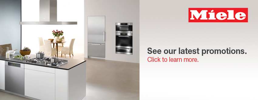 Click to learn about Miele promotions through Design First Interiors